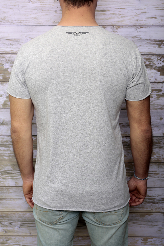 Tshirt mens fashion   graphic australia   ies insight eagle style   made in italy   natural cotton   rear with model